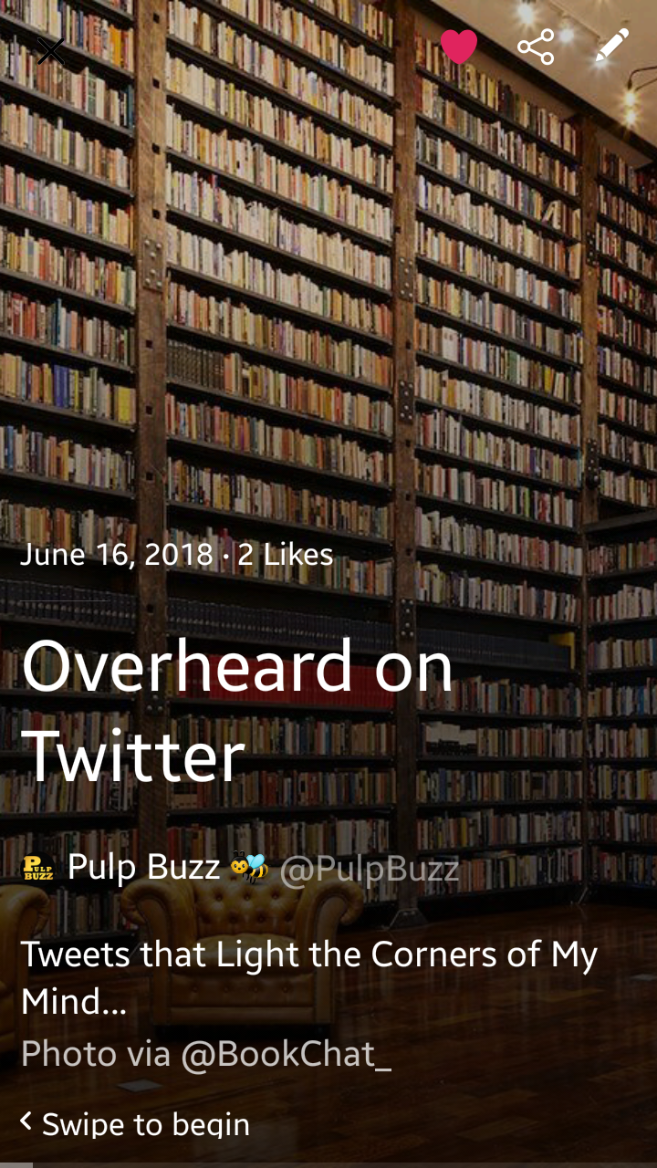 PulpBuzz Moment ♣ Overheard on Twitter